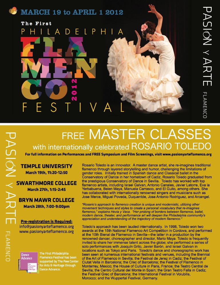 FREE Master Classes with ROSARIO TOLEDO