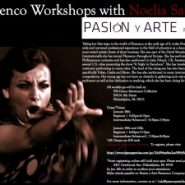 Pasion y Arte hosting Noelia Sabarea, direct from Spain, for three nights of workshops