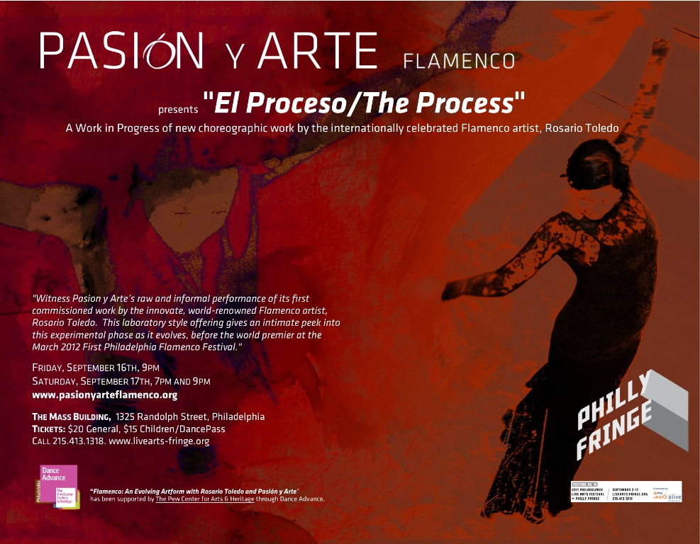 "Pasion y Arte presents ""El Proceso/The Process"" at The Philly Fringe"