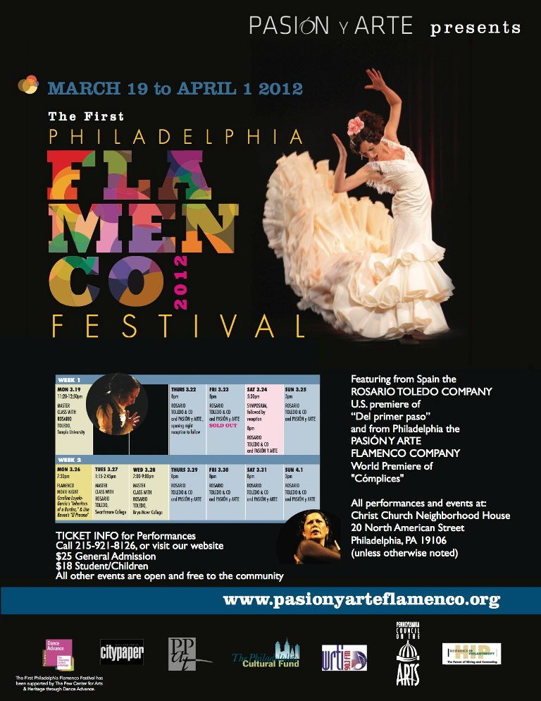 Announcement about Flamenco in Philadelphia Booth